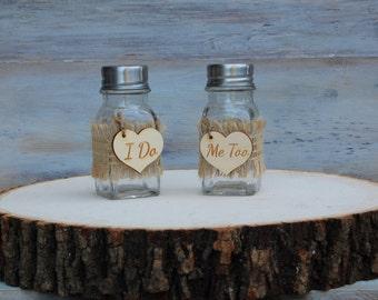 Rustic Salt and Pepper Shakers/Rustic Wedding Decor/Shabby Chic Wedding Decor/Rustic Wedding Reception/Shabby Chic Wedding/Barn Wedding