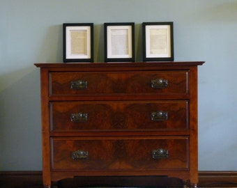 Sourced on request- Antique chest of drawers. Wooden drawers, vintage drawers, original.