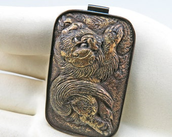 Antique Chinese Pendant Chinese Jewelry Old Ethnic Jewelry Asian Jewely Old Bronze Jewelry Antiques Collectables