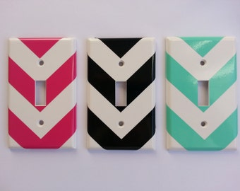 Classy Chevron vinyl light switch cover. DECAL
