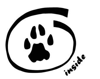 "Furry Inside 5"" Decal"