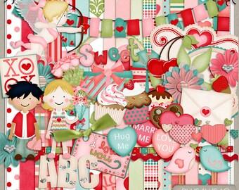 Sugar Valentines Digital Scrapbook Kit