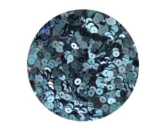 4mm Flat Sequins Light Blue Metallic