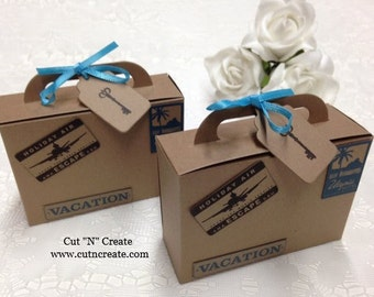Suitcase Favor Boxes Suitcase Boxes Suitcase Favors Destination Wedding Travel Suitcase 25 Included