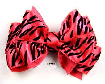 Sassy Zebra Little Girl Hair Bow
