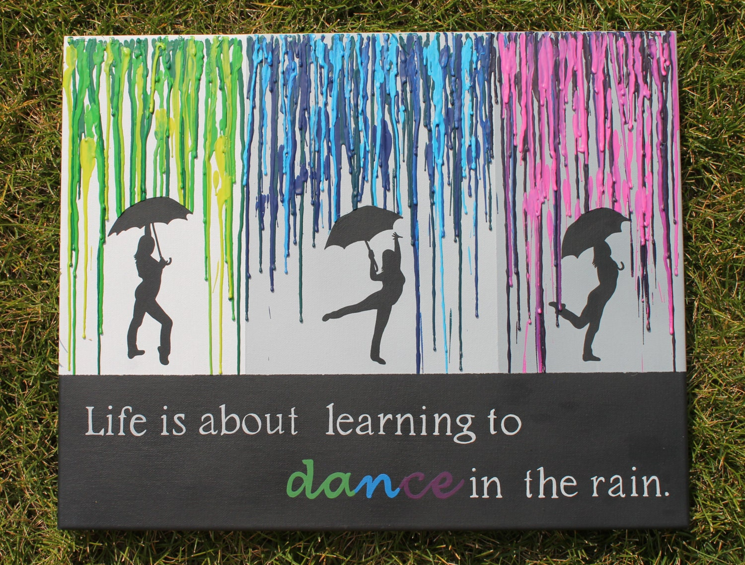 Melted crayon art with quote for Melted crayon art with quotes