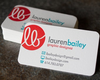 "Rounded Corner Business Cards - Custom Design (1/4"") - Various Quantities"