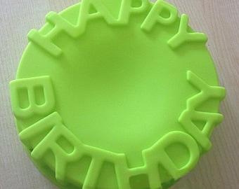 Happy Birthday  Mold Cake Mold Mould Soap Mold Silicone Mold Flexible Mold