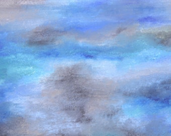 If it hadn't been so high... Original abstract painting 100x50cm