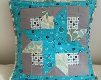 Handmade Quilted Pillow / Cushion cover