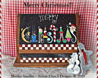 Merry Christmas - Painted by Martha Smalley, Painting With Friends E Pattern