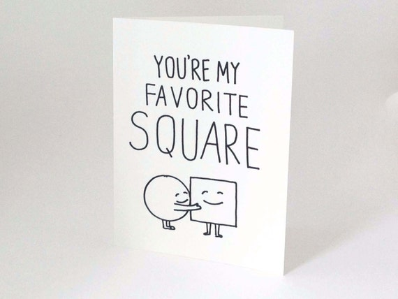 Cute Valentine // Funny Love Card // Friendship Card // Romantic Birthday Card // Card for Him // Card For Her // You're My Favorite Square