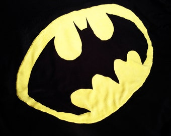 Fleece Batman Blanket - Choice of finish