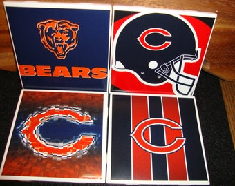 Chicago Bears Coasters (set of 4)