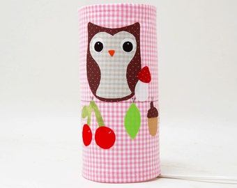 Lamp with OWL and cherry
