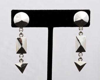 Geo3 - Earrings - Sterling Silver