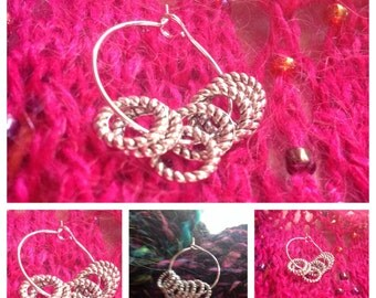 10 LACE Knitting STITCH MARKERS. 6-8 mm silver coloured closed rings.