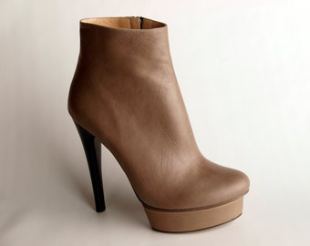Exquisite Boots, in Buttery Sheepskin, Genuine Leather, Taupe