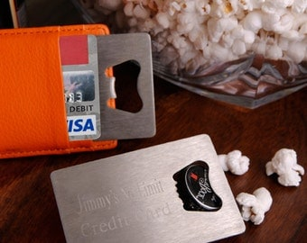 Personalized Credit Card Bottle Opener - GC923