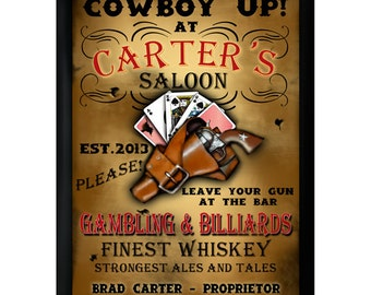 Personalized Bar Sign - Personalized Pub Sign - Saloon Sign - GC268 SALOON