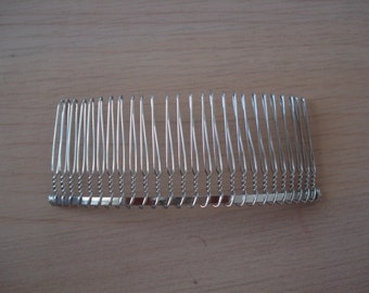 Large 26 Teeth, 4 Inches Wide, High Quality Silver Tone Wire Comb, Hair Comb, Metal Comb, 1 piece