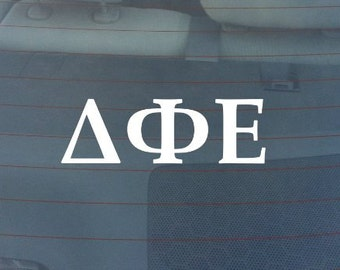 "Delta Phi Epsilon Sorority Sticker Window Laptop Car Decal Vinyl Ipad Iphone 3"" 6"" 8"""