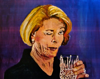 Lucille Bluth (From Arrested Development) 10x14 Print of Acrylic Portrait