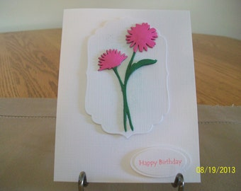 Elegant Pink Aster Birthday Card
