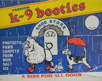 ViNTaGe DOG BOOTIES SHoES DoGGiE PaW CoVeRs BooTS K-9 CaNiNe LaRGe