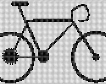 Bike Cross Stitch Pattern