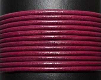 Cyclamen - 1.5mm Leather Cord per yard