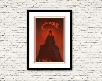 The Black Hole Poster 70's and 80's Sci Fi Collection Print 16x24