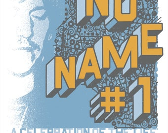 LOS ANGELES No Name #1 Elliott Smith silkscreened poster, limited-edition