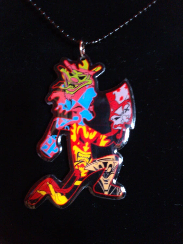 jokers cards hatchetman necklace on sale by