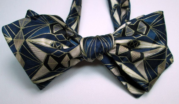silk bow tie gatsby gold one of a handmade for