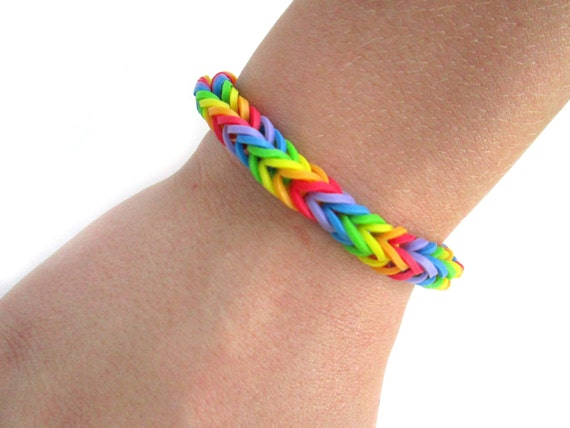 how to make a fishtail rubber band bracelet items similar to rainbow fishtail rubber band bracelet 3811