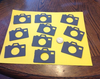 10 Sizzix camera die cuts, you choose the color