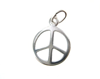 Peace Symbol Charm - Sterling .925 Charm Lowest Price