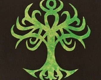 Easy Celtic Tree Of Life Quilt Applique Pattern Design