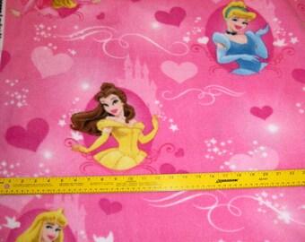 Disney Princess Fleece Fabric Sleeping Beauty, Cinderella, Belle BTY