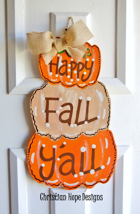 Thanksgiving Fall Pumpkin Door Hanger