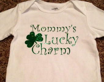 Mommy's Lucky Charm St. Patrick's Day shirt for girls