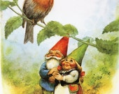 Reserved for Fiona!  Vintage Art Print by Rien Poortvliet Gnome elf David and Lisa
