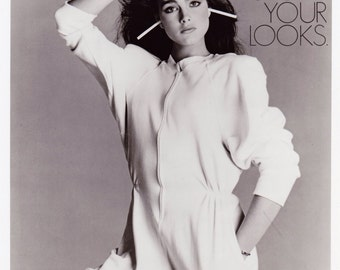 Original photograph Brooke Shields - American Lung Association C.1980's---FREE SHIPPING !!!