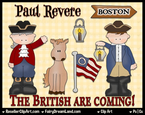 paul revere digital clip art commercial use graphic image Paul Revere House paul revere clipart