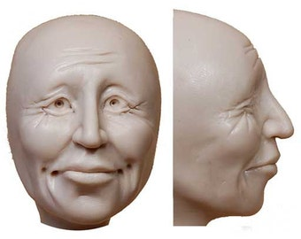 Moldf7 - 2 inch Face, Storykeeper Face, by Maureen Carlson