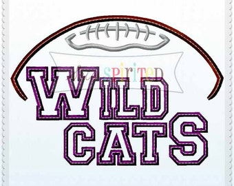 Wildcats Football Applique Embroidery Design