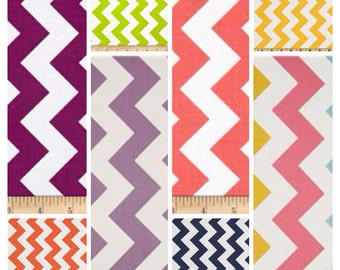 Chevron crib skirt, choose your color
