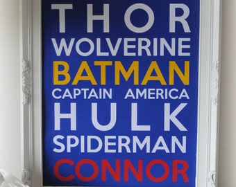 Superhero A3 Print