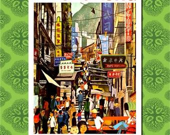Hong Kong Travel Poster Wall Decor (7 print sizes available)